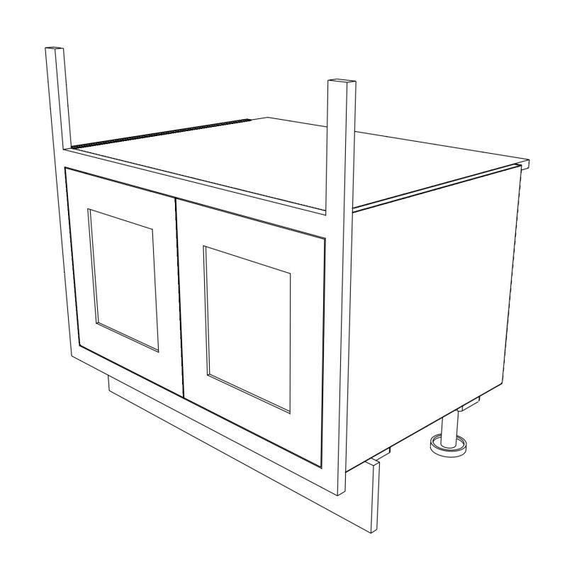KR1 Base Double Belfast Sink 3D 1