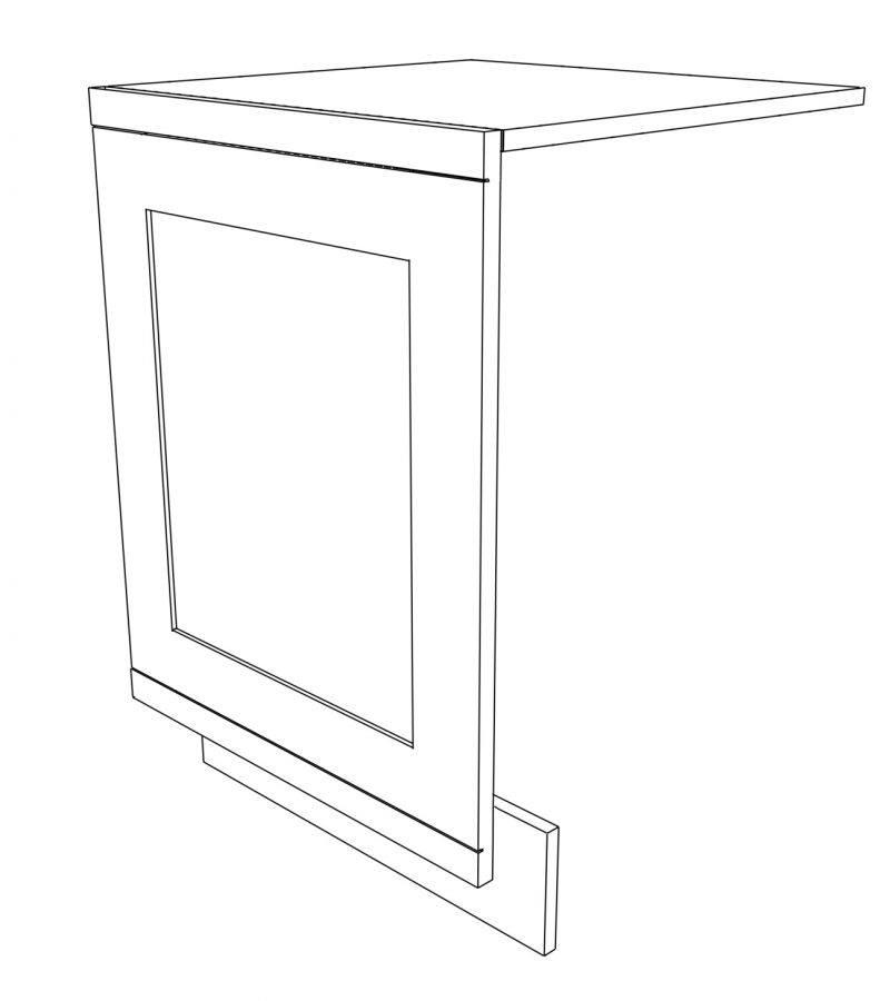 KR1 Base Integrated Dishwasher Panel 3D 2