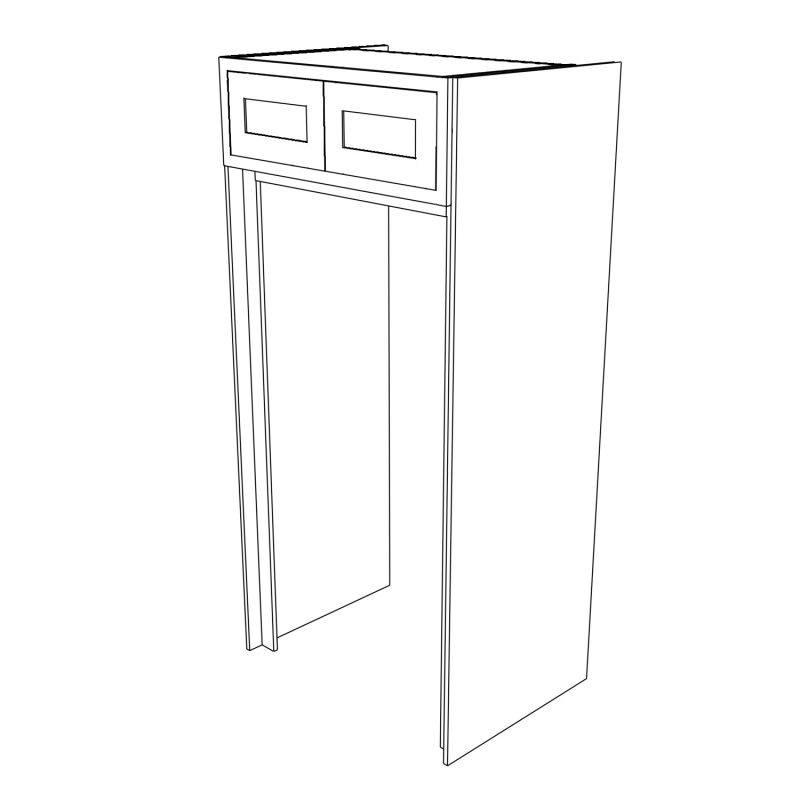 KR1 Tall American Fridge Freezer 3D