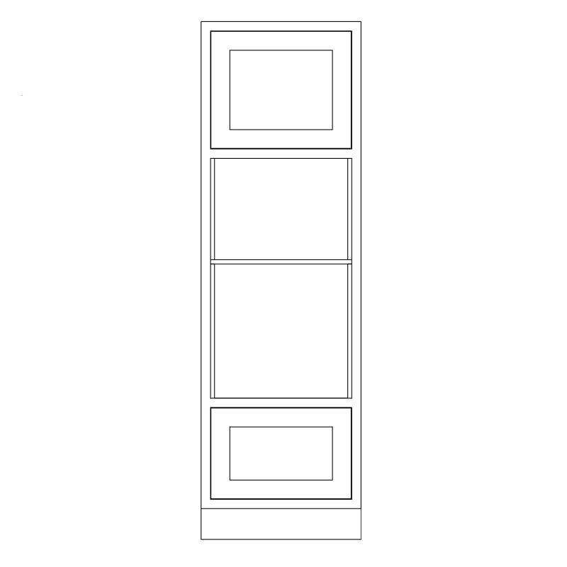KR1 Tall Double appliance Housing 680 1