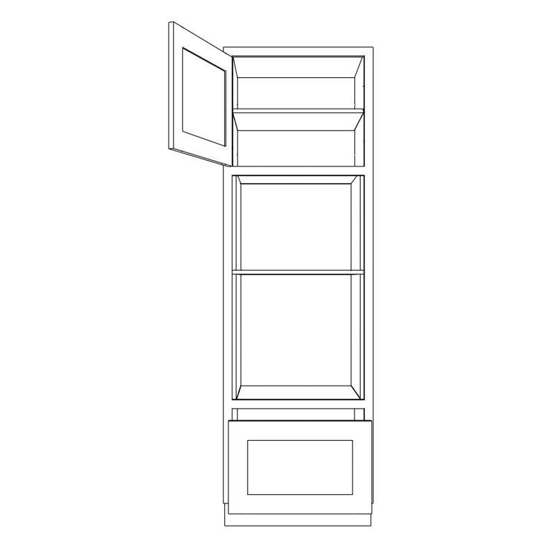 KR1 Tall Double appliance Housing 680 Open