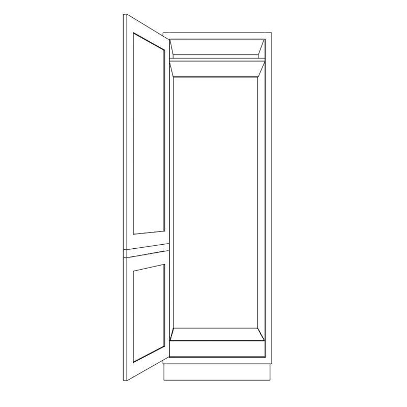 KR1 Tall Fridge Freezer Housing 680 Open