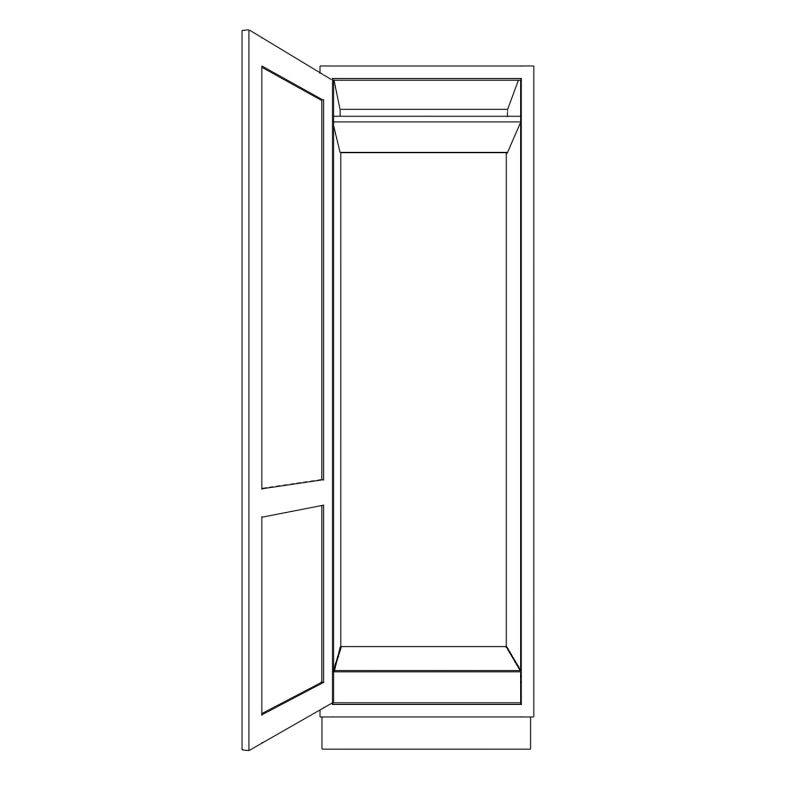 KR1 Tall Fridge or Freezer Housing 680 Open