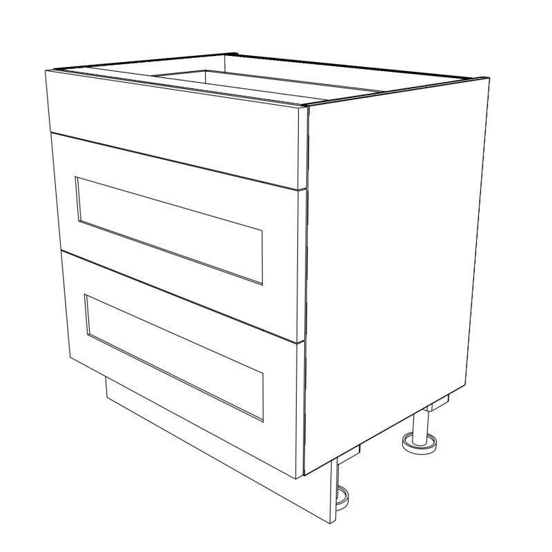 KR2 Base Drawerline Pan Drawers 800 3D