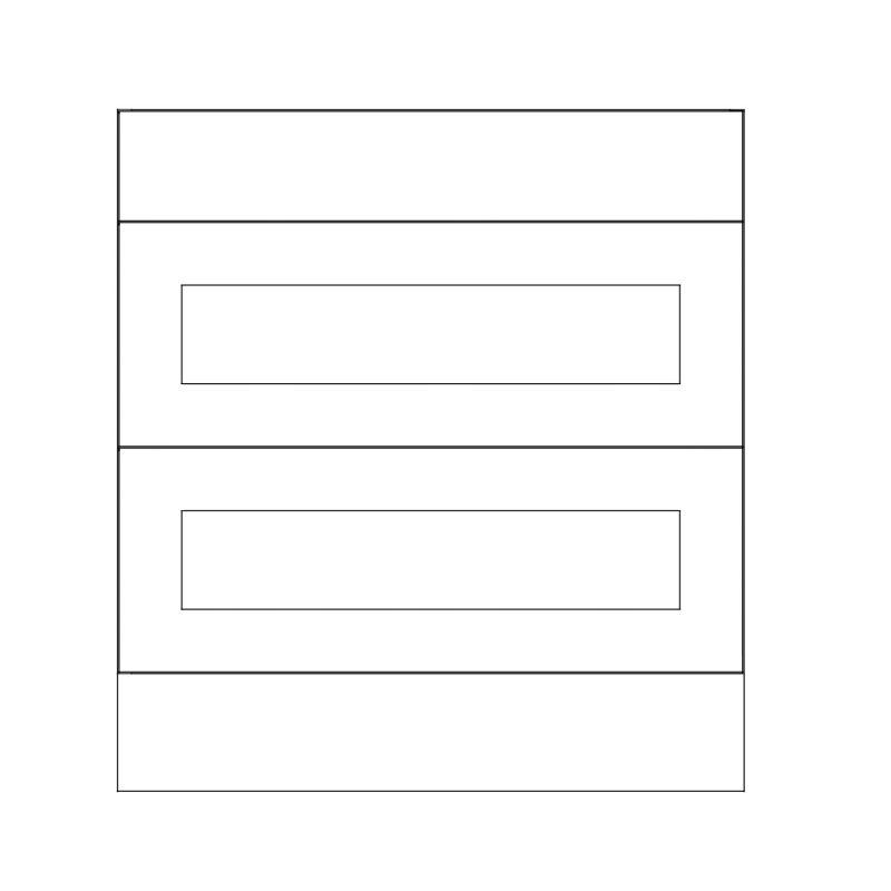 KR2 Base Drawerline Pan Drawers 800