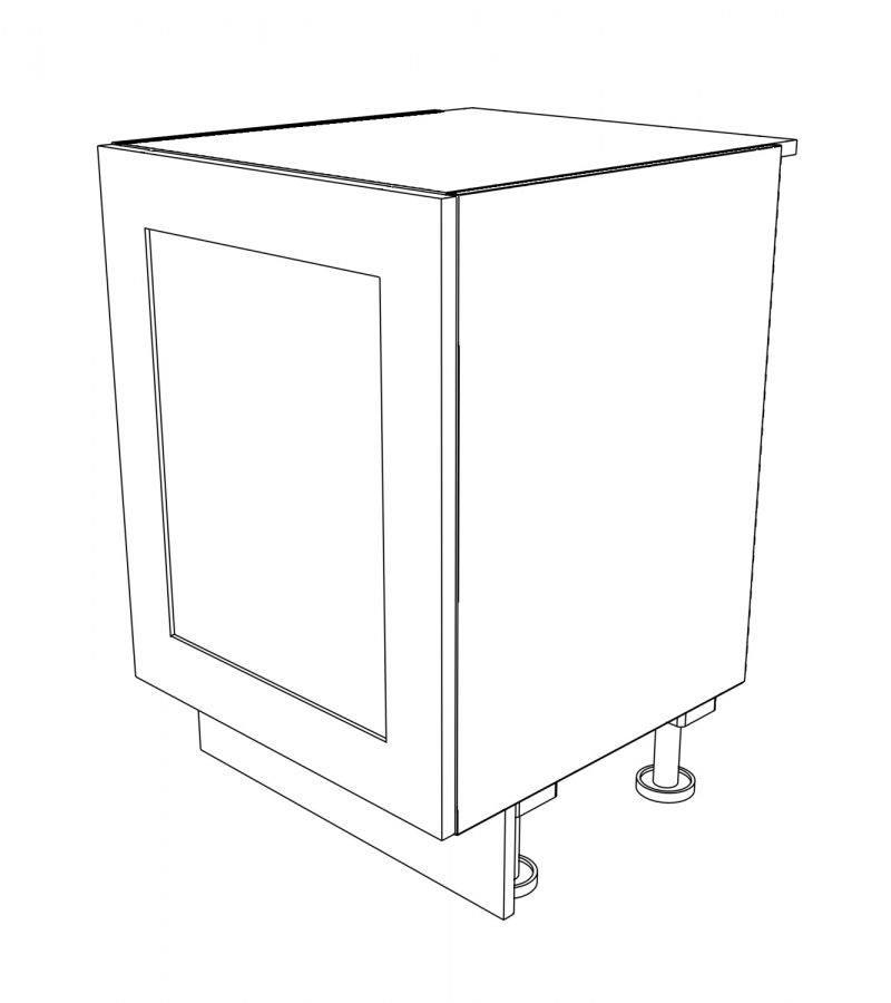KR2 Base Undermounted Sink Single 600 3D
