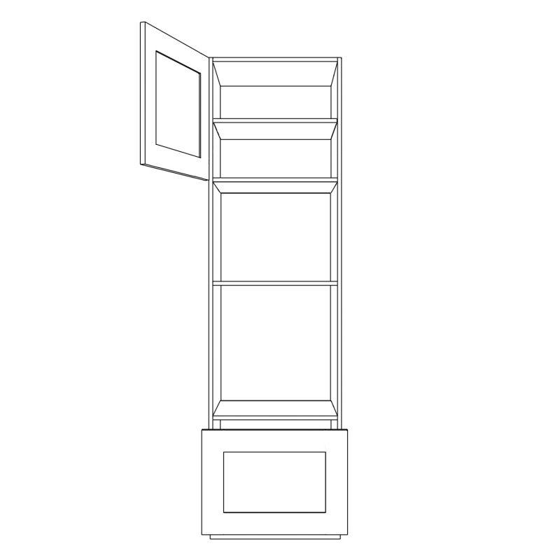 KR2 Tall Double Appliance Housing Open