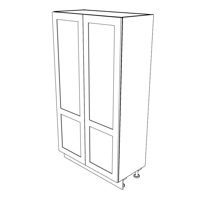 KR2 Tall Double Larder with Drawers 1200 3D