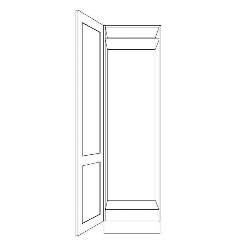 KR2 Tall Fridge or Freezer Housing 600 Open 1