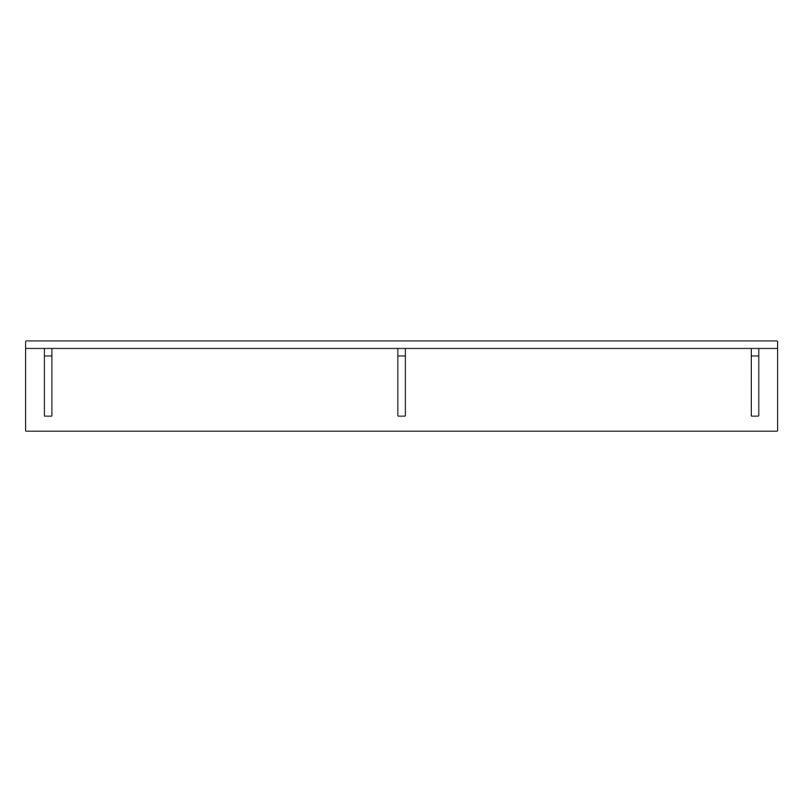 Shelf with brackets 1