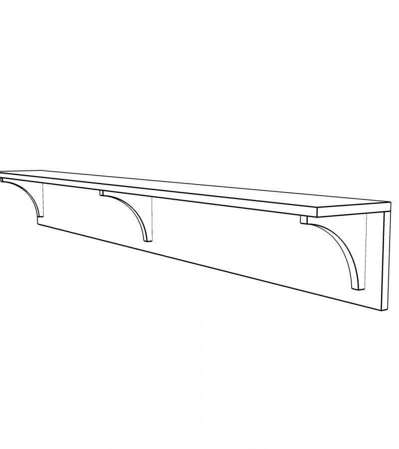 Shelf with brackets 2
