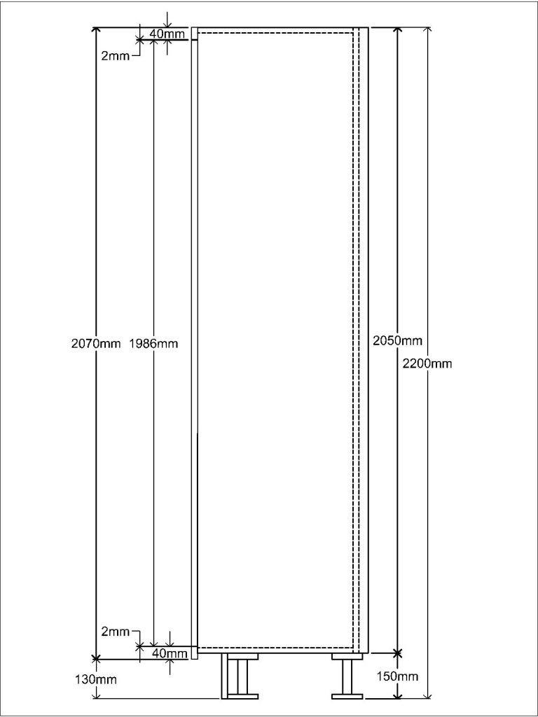 KR1 Tall unit Side elevation