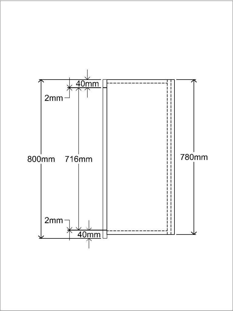 KR1 Wall unit Side elevation