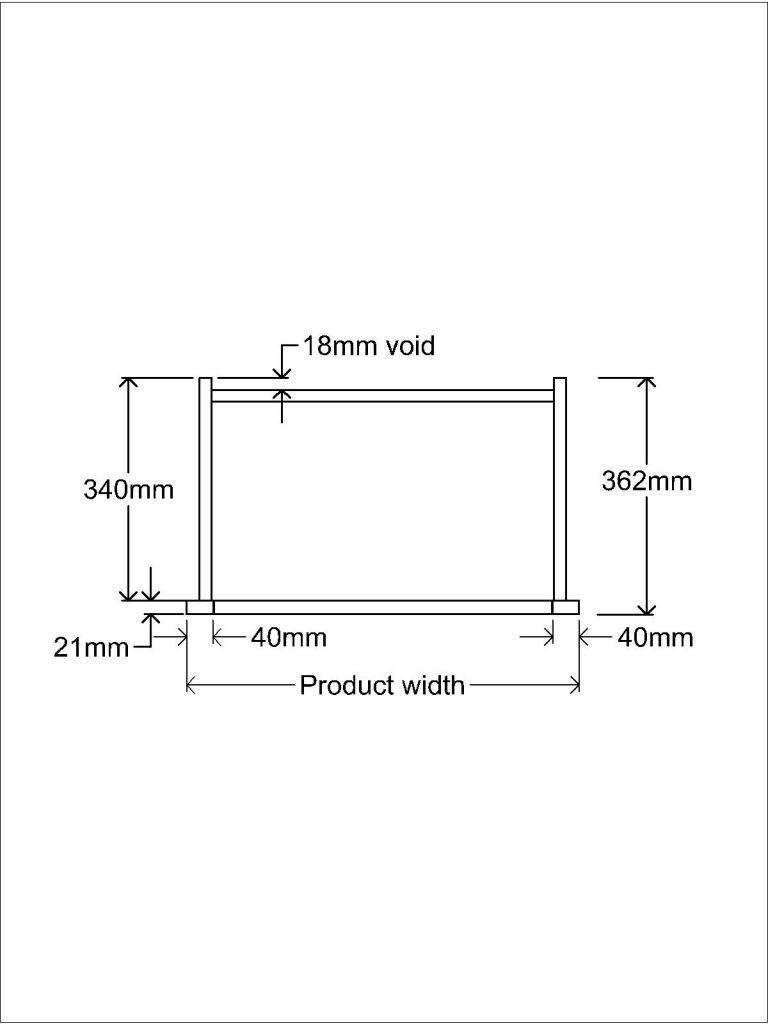 KR1 Worktop Standing unit Plan