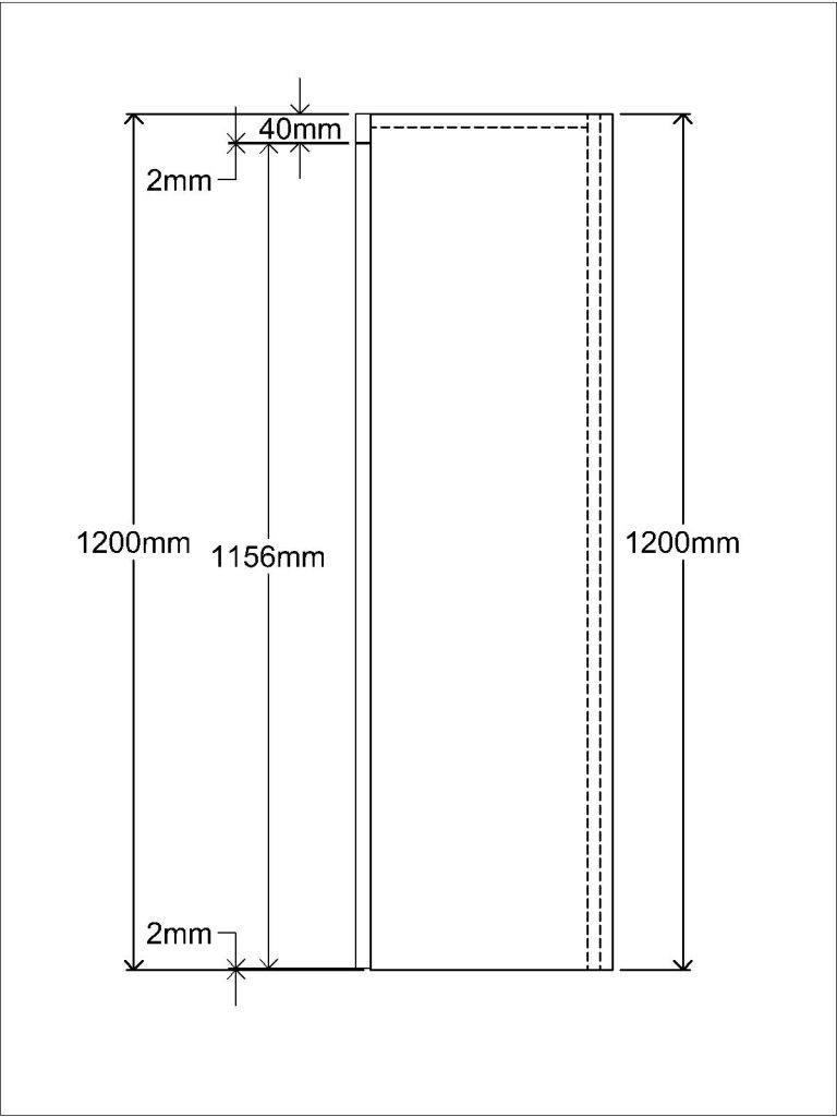 KR1 Worktop Standing unit Side elevation