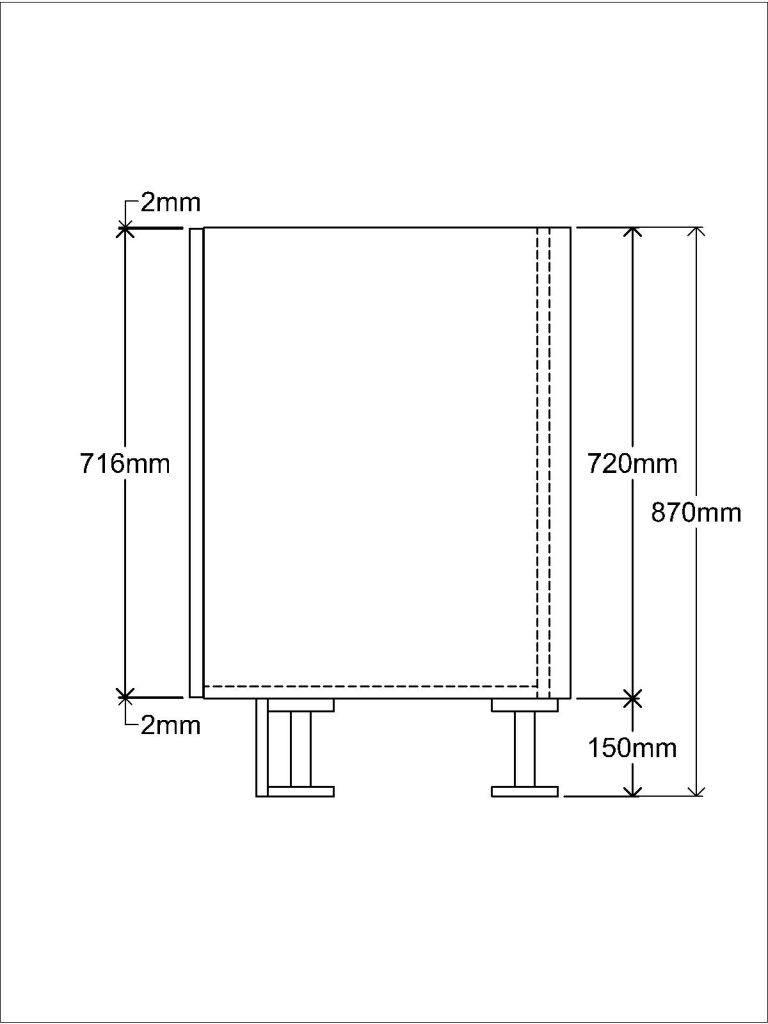 KR2 Base unit Side elevation