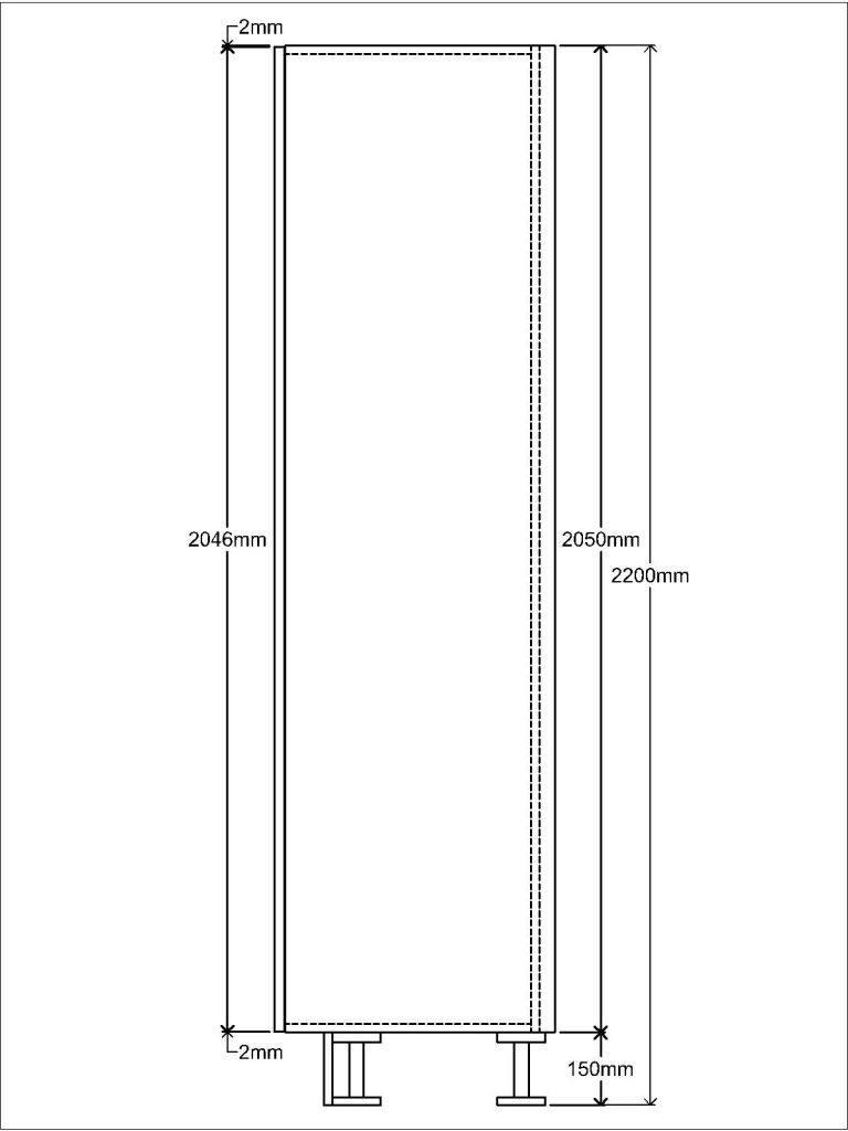 KR2 Tall unit Side elevation