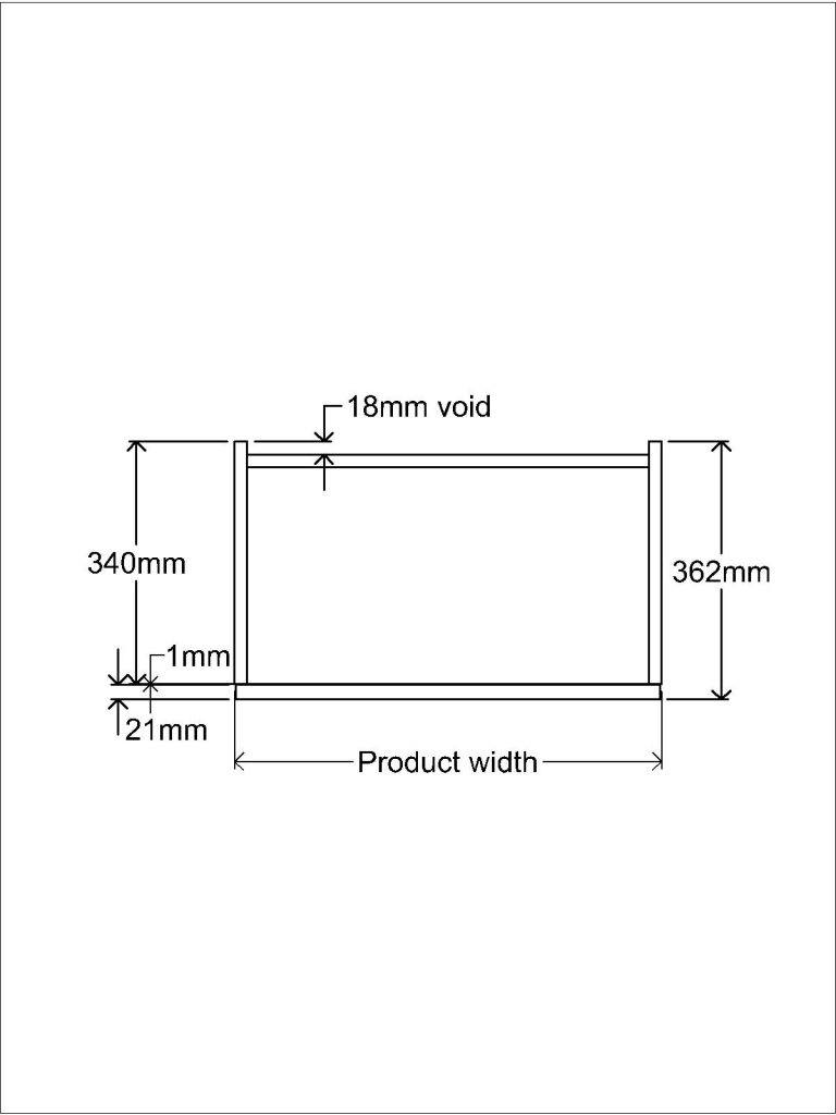 KR2 Worktop Standing unit Plan
